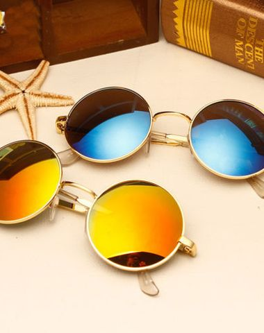f2607ef93f Sunglasses Golden And Blue Round Mercury Combo Pack Of 2 Goggles