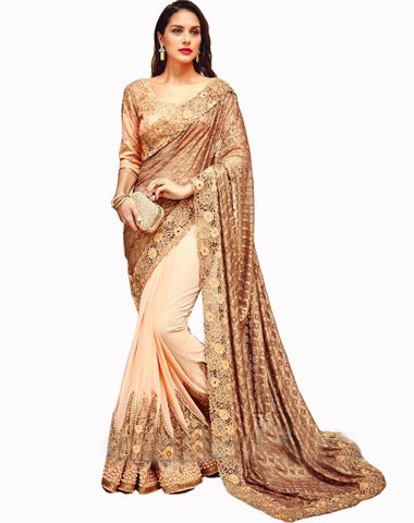 0adbbcc45 Fashionkanya Buy Black   Pink Spry Georgette Designer Saree