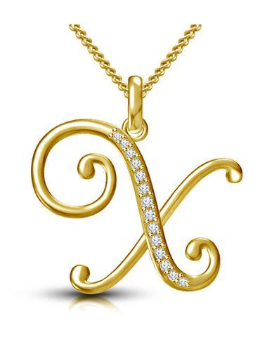 Webblekart Letter X Gold Plated 92.5 Sterling Silver and Swarovski Alphabet  Initial Pendant 5d17feb2434