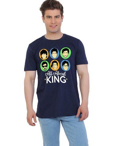 35bba1831d E-Tale Mens Black Cotton round neck half sleeve T-Shirt Bollywood Shah Rukh  Khan Fan printed