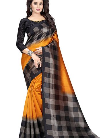 99e3008e983c4c Designer Party Wear New Collection Cotton Bollywood Trendy Elegant 2018  Latest Designer Saree for Women with Cotton Silk Unstitched Blouse (Free  Size)