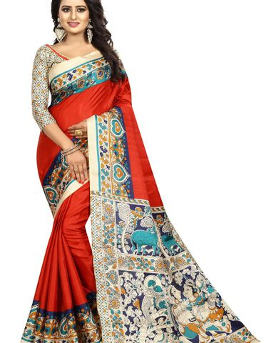 eb9bdb9e1d155c Designer Party Wear New Collection Cotton Bollywood Trendy Elegant 2018  Latest Designer Saree for Women with Cotton Silk Unstitched Blouse ( Free  Size)