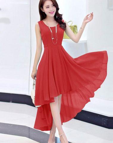 dd17396b15 Magnus New Red Georgette Designer Western Dress