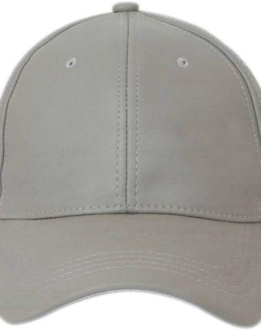 d8a5140fbb5 Alamos Solid Plain White Leather Baseball Cap