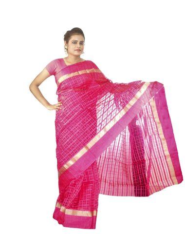 d33b91b602 Viukart Pink Self Design Handloom Saree