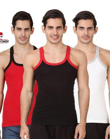 02f66c6ef2d PACK OF 10) Premium Men Cotton Sleeveless Vests - WHITE - RN