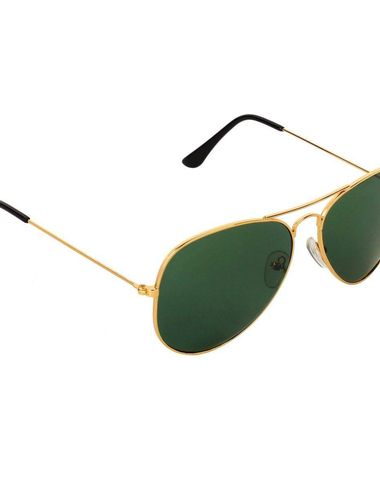 72363e9b5407 Adam Jones Green Aviator Sunglasses for men and women (Golden Frame with  Gradient Lens)