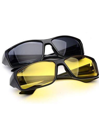 39c46de28dd Antiqa Combo of HD Day Night Vision Wrap Around Sunglasses for Men  (Day-Night-Drive-CMB-0001)