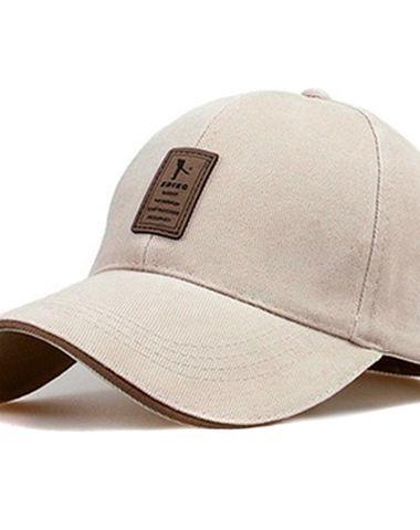 c6380217101 Novasox Unisex Golf Badge Adjustable Baseball Cap Beige