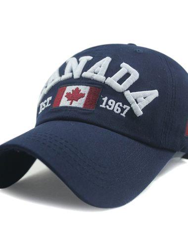5616be471e4 Novasox Unisex Canada Embroidered Adjustable Baseball Cap Blue