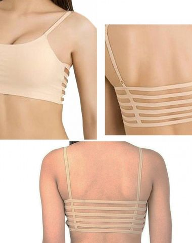 095b2eb4892 6 Strap Beige Padded Bralette Push-up Girl s bra ( removable Pads)- (Free  Size- 28-36)