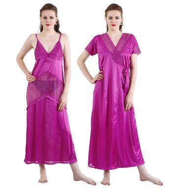 18a0a80cfe2 Visach 2 pc . Nightwear set Women s stylish Nighty for comfortable wear  (VS NIGHTY-RN236-341)