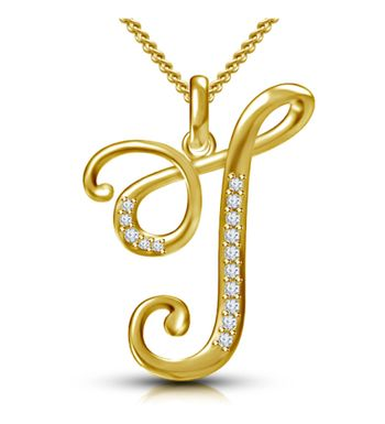 7303317f7eb0 Webblekart Letter T Gold Plated 92.5 Sterling Silver and Swarovski Alphabet  Initial Pendant