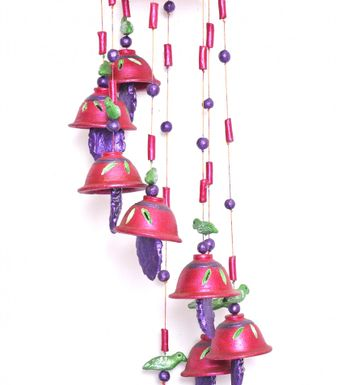 Hand Painted Terracotta Beautiful Wind Chime