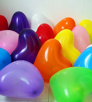 Heart Shaped 50 Pcs Colourful Balloons For Birthday Party Festival Diwali Christmas New Years Celebrations