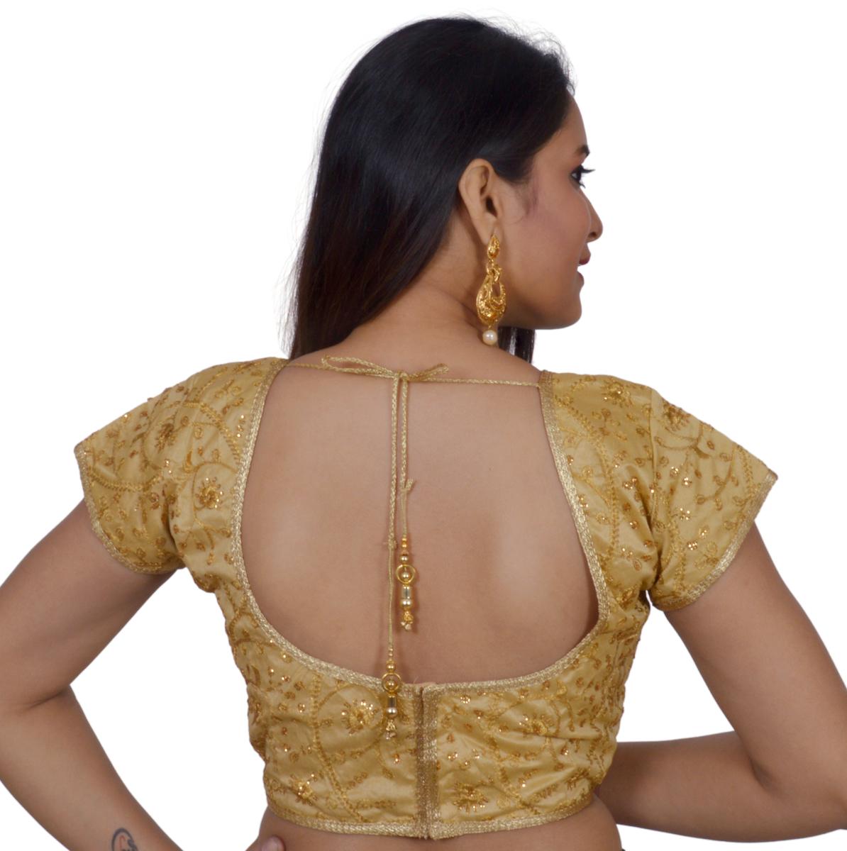 1a11fe798d799 Rinkoo Women S Art Silk Silver Princess Cut Padded Readymade Saree Blouse  Ping Site For Fashion. Readymade Saree Blouse Brick Red Color Princess Cut  Semi ...