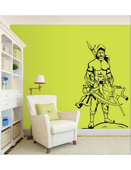 wall sticker of a tamil warrior