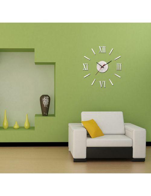 diy 3d roman numbers watch clock home decor mirror face wall
