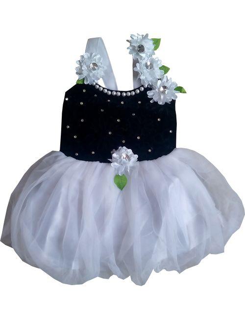 b50f1bd87 Cute Fashion Kids Girls Baby Princess Black Party Wear Flower ...