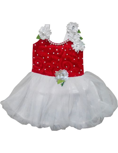 e7a98137f Cute Fashion Kids Girls Baby Princess Red Party Wear Flower ...