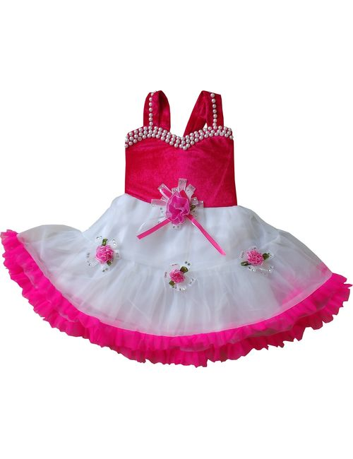 24d5650d7 Cute Fashion Kids Girls Baby Princess Pink Party Wear Flower Dresses ...