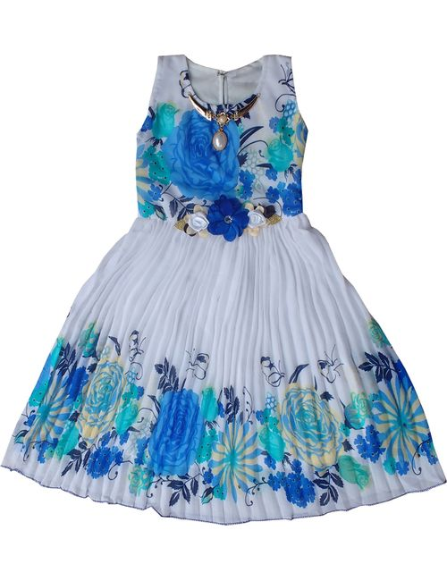 327ef7232 Cute Fashion Kids Girls Baby Princess Party Wear Flower Dresses ...
