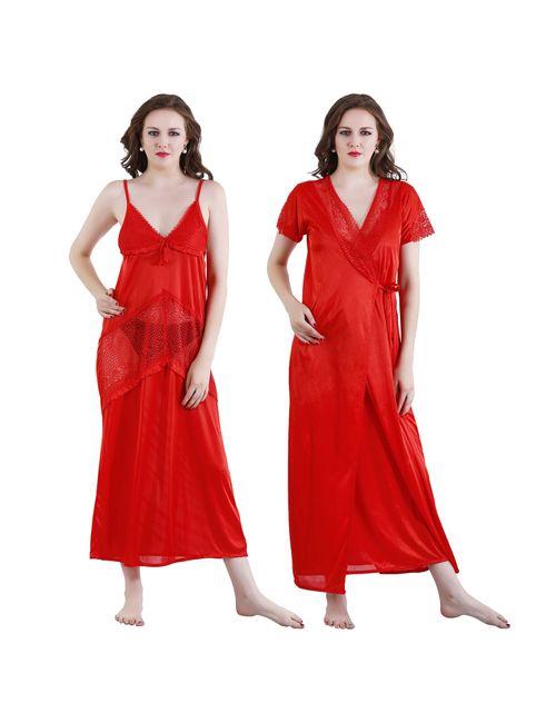 b94b07ec36a4 Nightwear set Women s stylish Nighty for comfortable wear  (VS NIGHTY-RN240-421)