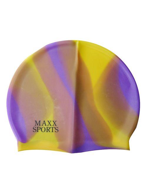 8835adedc62 Neska Moda Multi Color Full Head Cover Unisex Silicon Swimming Cap