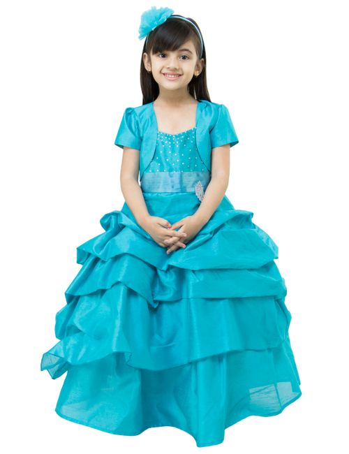 4057a3db0d28 Samsara couture Girls Frozen Solid Party Ball Gown