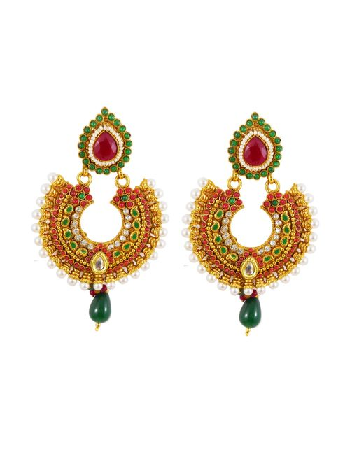 b797628ec47 Traditional Polki earrings with Ruby
