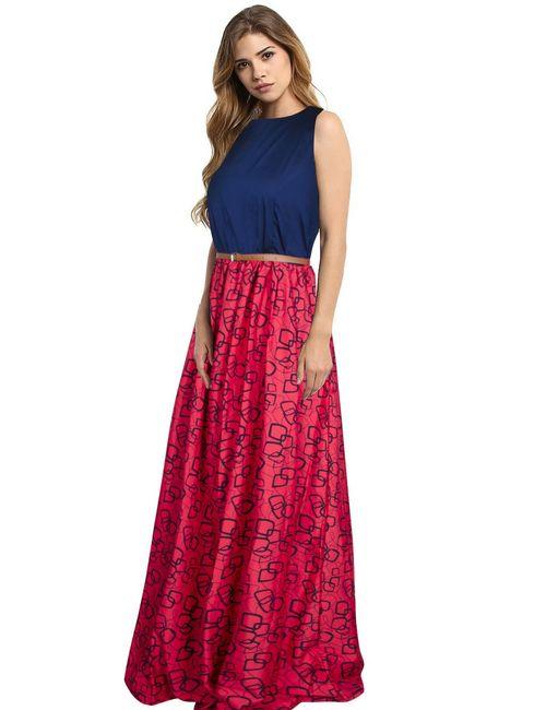33b6cf4db Viha Exclusive Designer Creap Gown