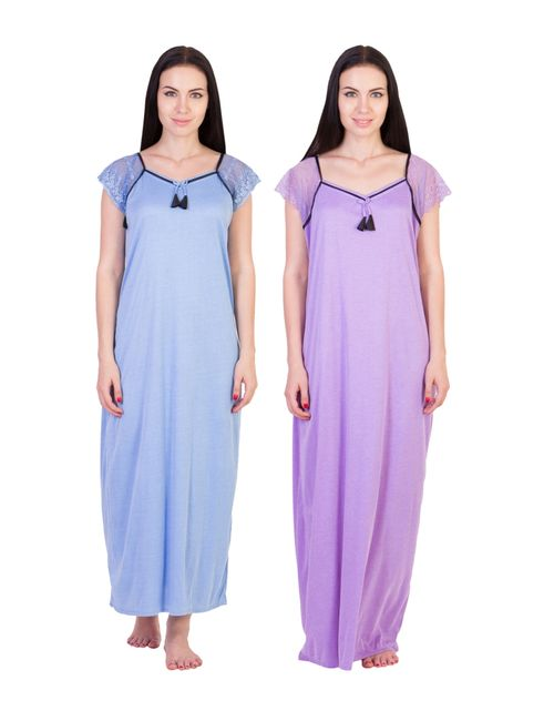 American-Elm Women s Stylish Multi Color Cotton Night wear- Pack Of ... dc5e372bb