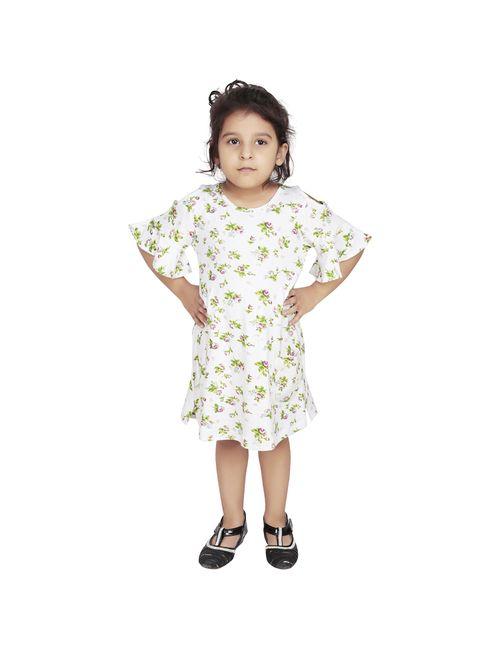 0eb841816298e Olele Flower Printed Cold Shoulder Dress