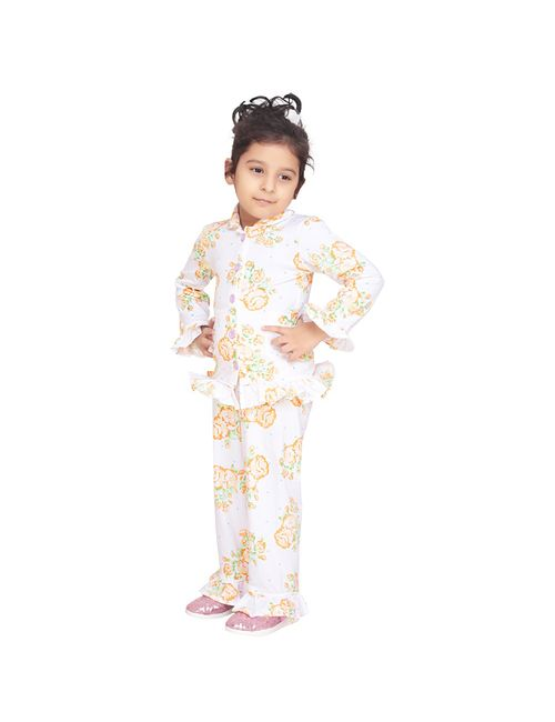 d2ce1a86e3 Olele Garden Floral Kids Girls Printed Night Suit with Pajama Set ...