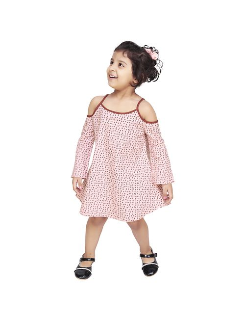 bfaffe86219f2 Olele Girls Edie Dot Baby Pink   cold shoulder top for 6 year girl ...