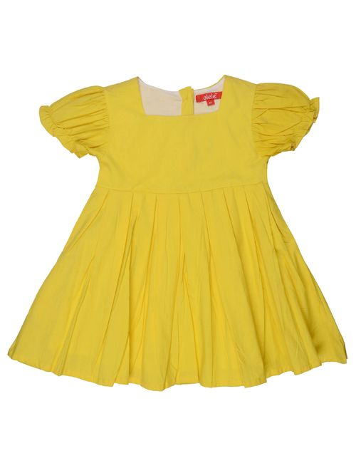 00ca3666b7c5 Olele Girls Yellow Pleat Dress
