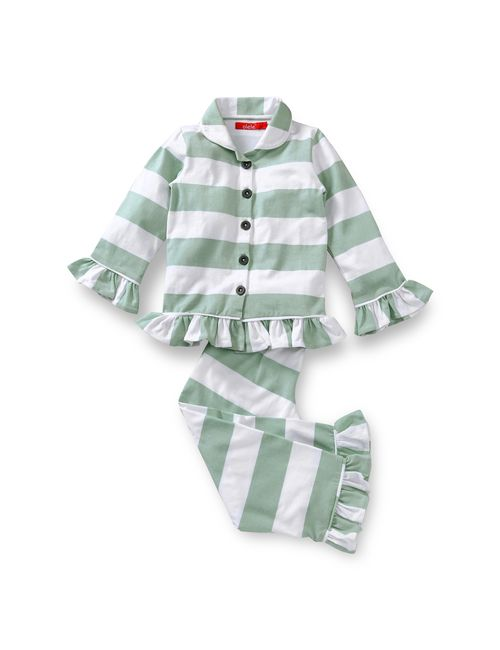 603e10b00 Olele Teal Stripe Nightsuit for GIRLS   kids night suits for girls ...