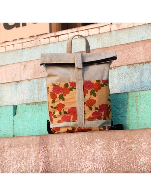 38e60c9e44ed Woca Designs Floral handprinted backpack for womens