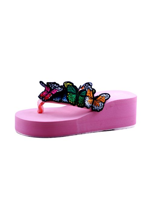 cb64d551971f hie n buy butterfly fashion veg heel sliepper for girls pink