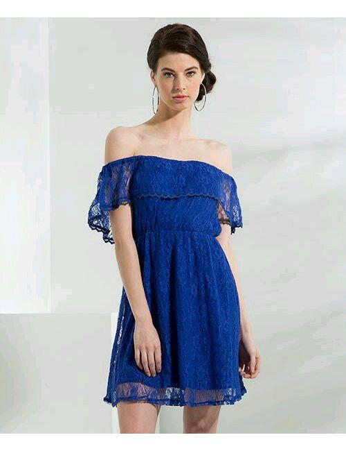bbfdba17acea akshara women s off shoulder royal blue dress