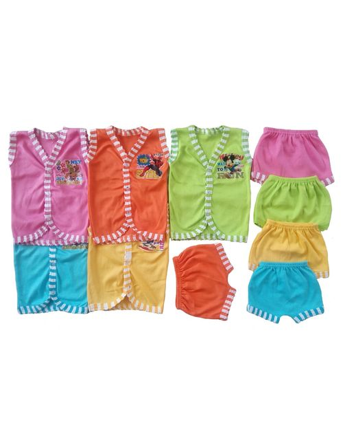 ce40b0ccc67d Sonpra Baby Soft Cotton Baba Suits Jabla Shorts Dress Combo Set