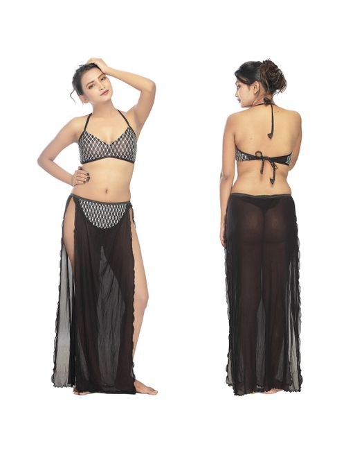 A Black two Piece Belly Dancer Nighty 89836d445