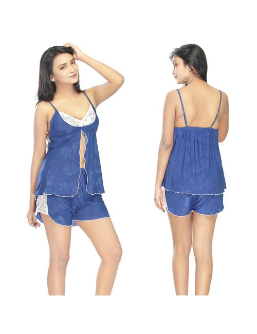 4f3df0ef19 OEEROTIC BLUE COLOUR 2 PIECE NIGHTY WITH HOT ANTS
