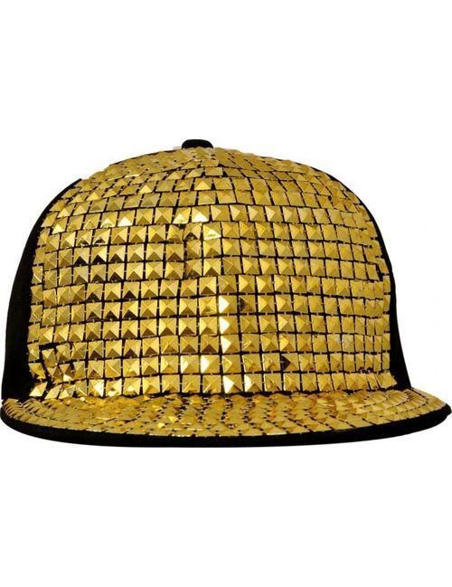 4efcdc115dd Alamos Solid Snapback Gold Hiphop Baseball Cap