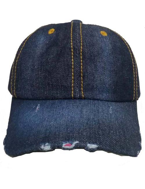 ac5d429f8fb Alamos Self Design Dark Blue Hard Cotton Cap