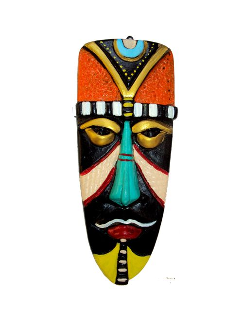 Terracotta Home Decorative Multicolour Egyptian Mask Wall Hanging