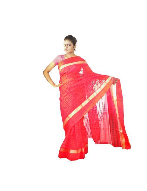 8609be8984 Viukart Red Handloom Saree