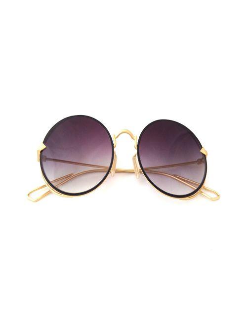 daf8fce63e Classy-Classic Round Unisex Sunglasses BLACK Shades