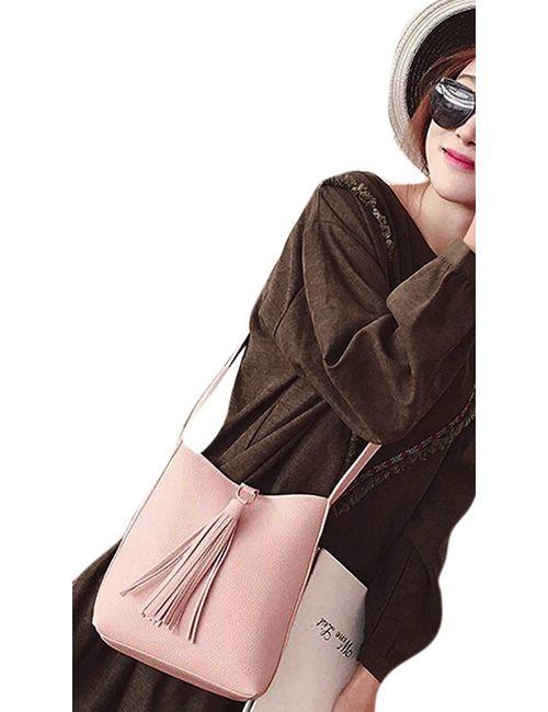 7f98690c8c Pretty Tassel Mini Small Bucket Crossbody Bag side bag Sling Bag Shoulder  bag Messenger bag for Womens Women s Girls lady Bucket Sling bag Crossbody  bag for ...