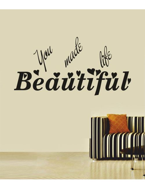 Beautiful Life Wall Quotes Decal Rzym0108bl
